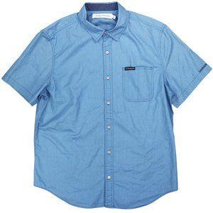 Calvin Klein Button Down Short Sleeve Shirt NWT XL